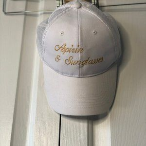 Aspirin & Sunglasses white trucker style hat